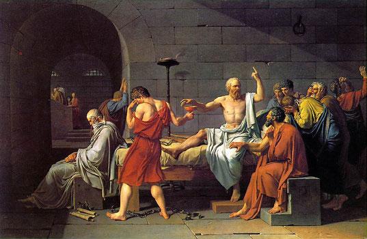 La mort de Socrate selon David