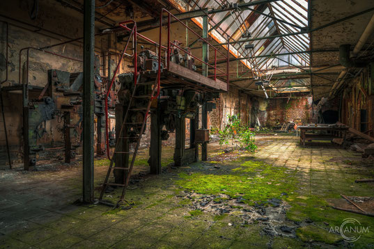 Ruins of an abandoned hospital in Eastern Germany