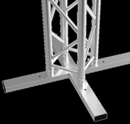 Vertitruss MXA-1000 mit Traverse aufgebaut zur Säule