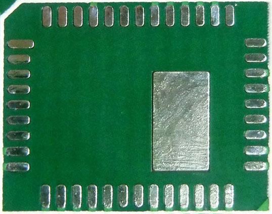 QFN部分の基板パッド