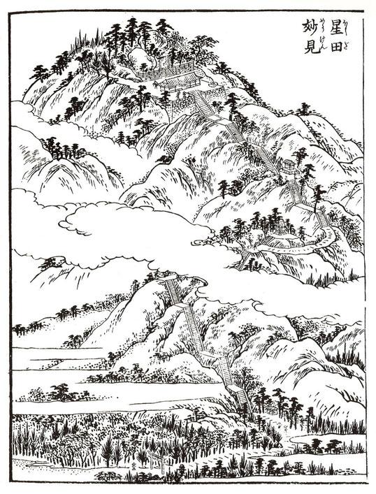 江戸時代享和元年刊行『河内名所図絵』にみる「星田妙見宮」