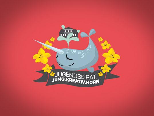 Handgezeichnetes Logo für den Jugendbeirat Horn-Lehe in Bremen