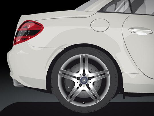 Vektorillustration SLK für Mercedes Benz in Bremen