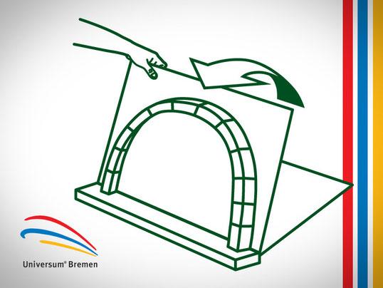 Wir illustrieren alle neuen Exponate mit Erklärgrafiken, Universum Bremen