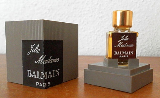 JOLIE MADAME - MINIATURE PLATE AVEC PARFUM - DANS BOÎTE EN PLASTIQUE MARRON