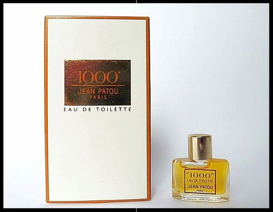 """1000""  DE JEAN PATOU - EAU DE TOILETTE  : A NOTER MINIATURE DIFFERENTE DE LA PRECEDENTE"