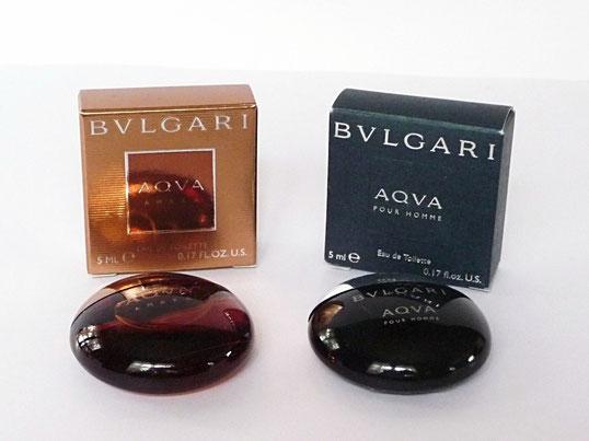 BVLGARI - 2 MINIATURES : AQVA AMARA & AQVA POUR HOMME