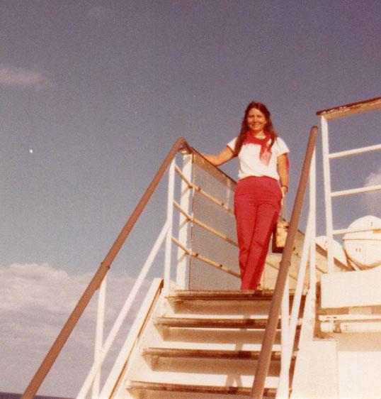 Nos dirigimos a Tenerife en ferry. F. Pedro. P. Privada.