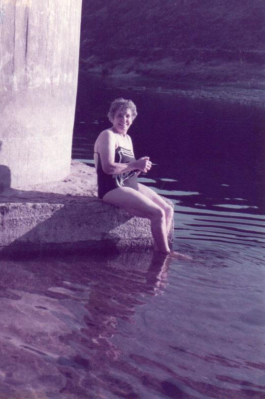 Un bañito en el rio Alagón. F. P. Privada.