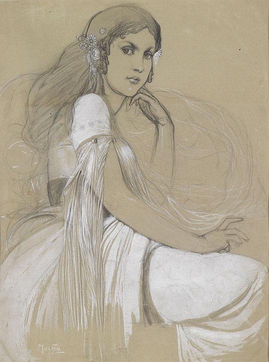 父による娘ヤロスラヴァの肖像(1920年代)