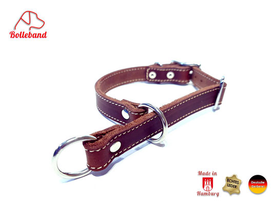 Zugstopp-Lederhalsband-Hund-Bolleband