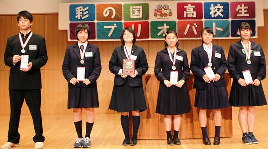 埼玉県大会。左から、大貫くん、石田さん、染谷さん、渡邉さん、高橋さん、町田さん