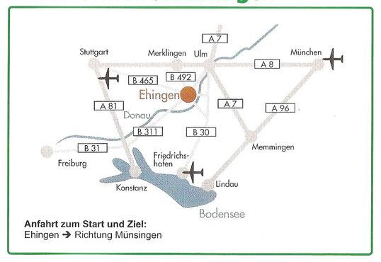 Quelle: Stadt Ehingen (Donau) (Wegebeschreibung nach Ehingen (Donau))