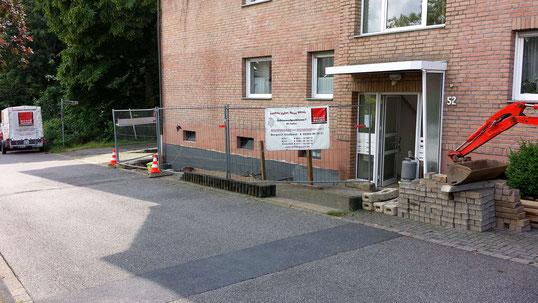 Kellerisolierung Baustellenansicht Köln