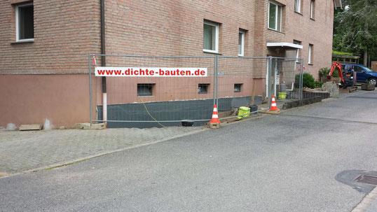 Kellerabdichtung Baustellenansicht Bonn - Düsseldorf