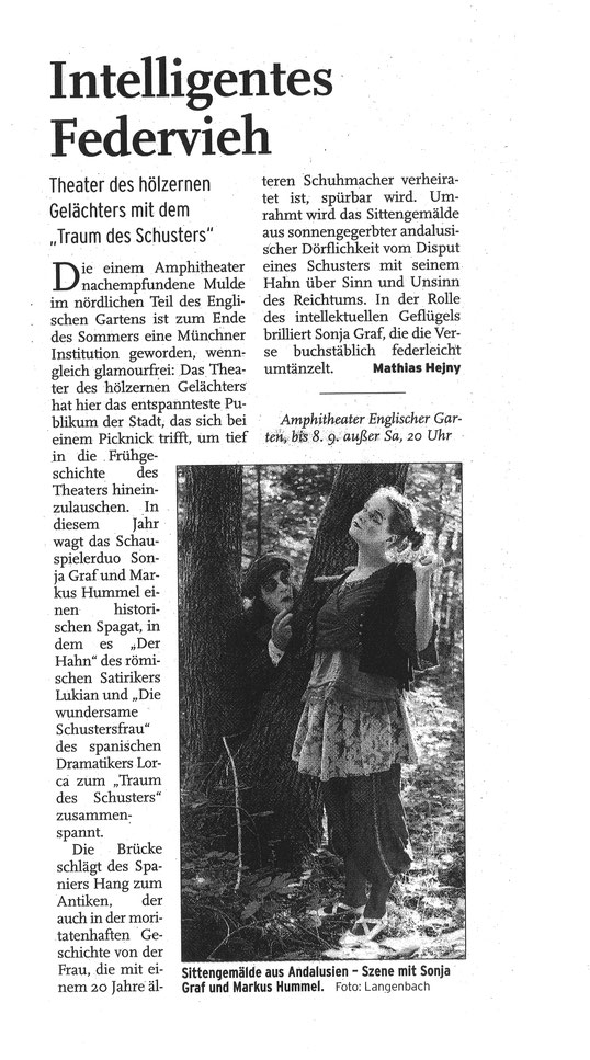 """""""Der Traum des Schusters"""", AZ München, 04.09.2002"""