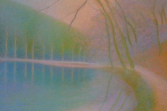 Teich im Herbstlicht (Arlesheim)52.5cmx62.5cm