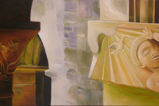 The cloister of Iona Abbey 30x60cm