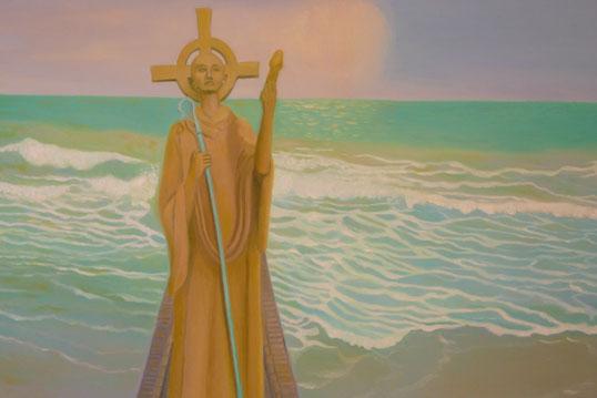 St. Aidan from Iona 50x70cm