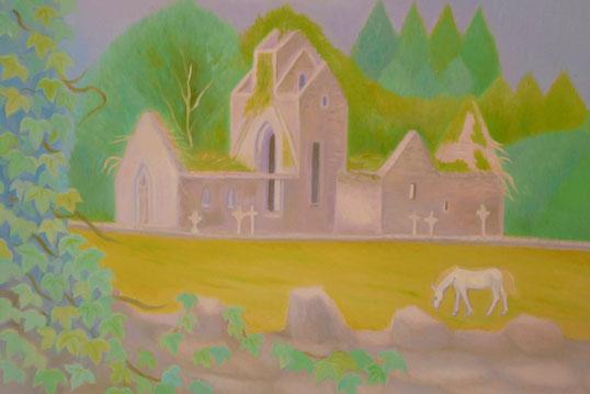 A little churchyard 40x50cm
