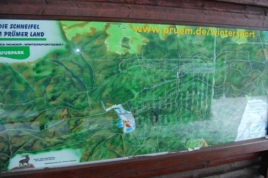 Wintersportgebiet Schwarzer Mann (700 m) bei Prüm