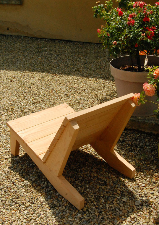 fauteuil bois douglas made in france