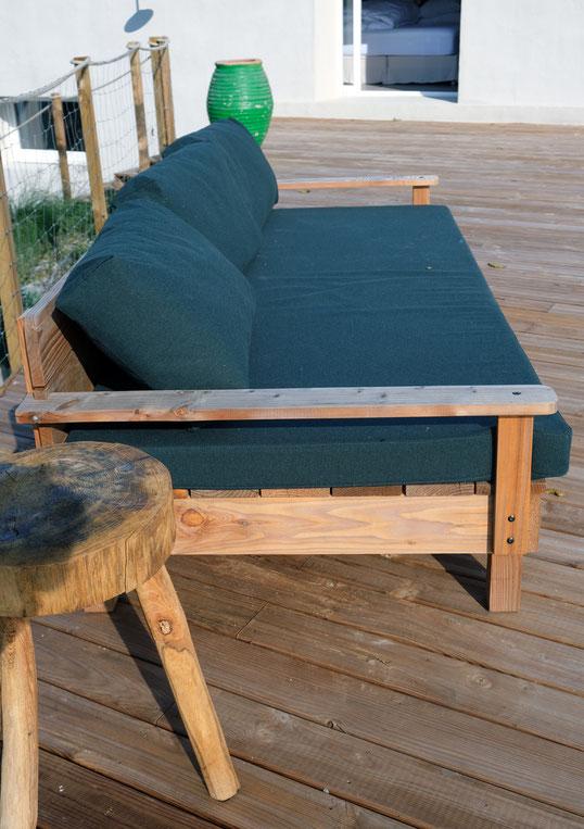 canapé jardin bois douglas