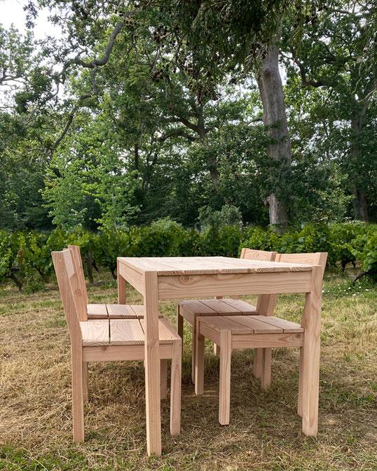 table bois jardin douglas made in france