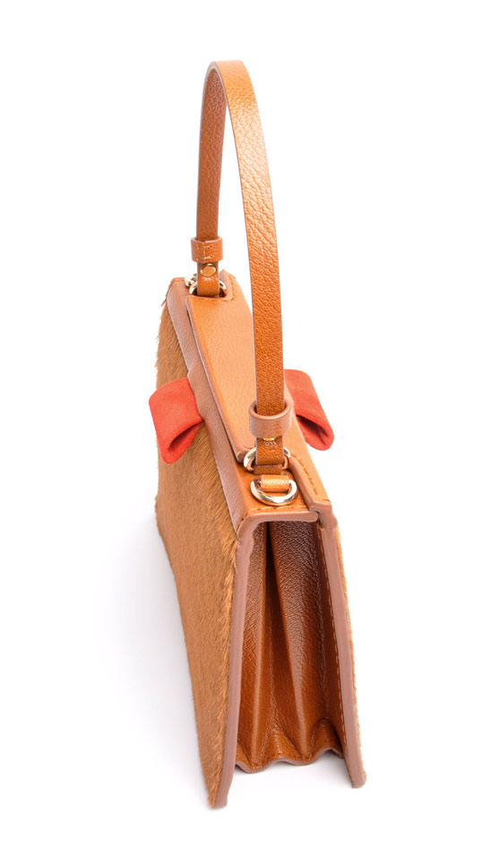 OSTWALD Bags . Finest Couture . Handcrafted Leahterbag . Tote . cognac . red