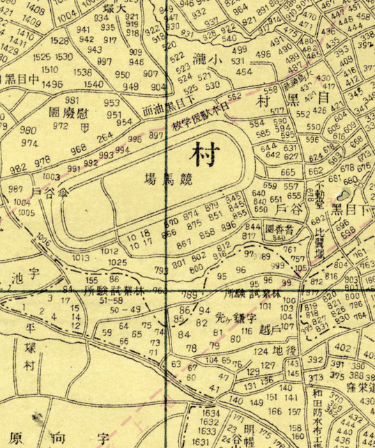 大正7年発行・東京地図より