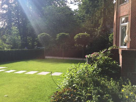 Ein großzügiger Garten mit sehr vielen Fassetten.