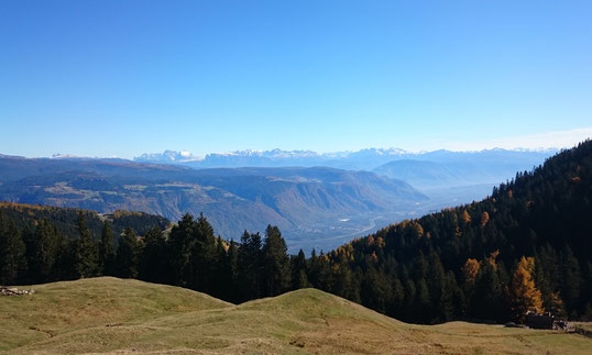 Südtirol das Land der Berge. Siehe die Weite wie ein Adler. Die  Adlerperspektive der Rundumblick biete Zeit zum Träumen für neue Visionen