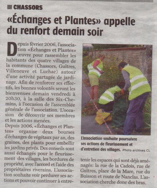 Article Charente Libre du 03-03-2016
