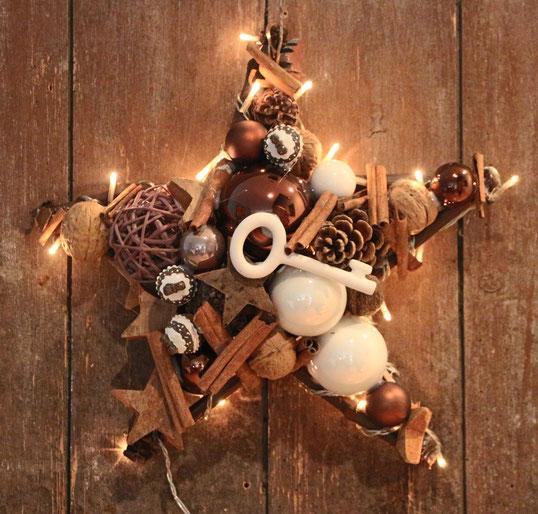 handmade star stern stern aus knöterich with light mit lichthandmade braun fensterschmuck weihnachtsdeko türkranz