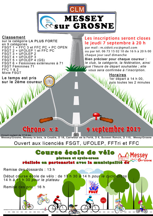 Chrono Messey sur Grosne Vélo Sport Chalonnais
