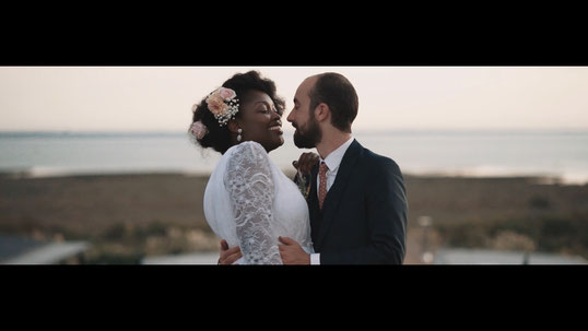 video couple mariage mer dune camera