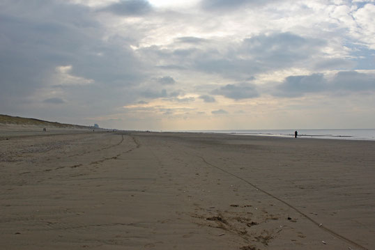 Endloser Strand in beide Richtungen