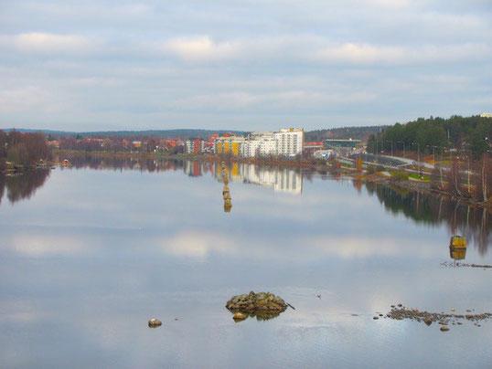Blick auf Umeå von der Kolbäcksbrücke, Kolbäcksbron