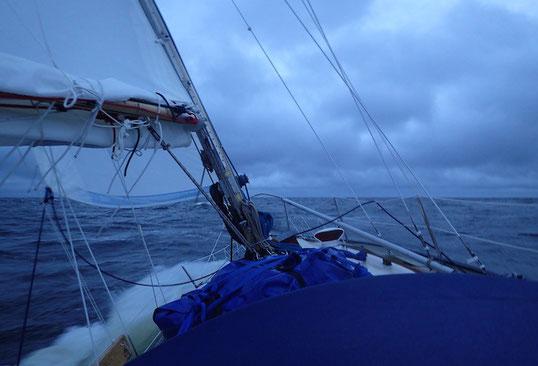 Das Weiße Meer. Es ist grau. Und garstig. 65°2´ N 39°16` E