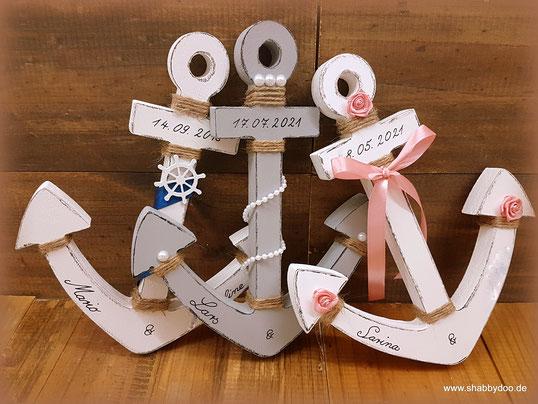 Anker aus Holz Hochzeit maritim