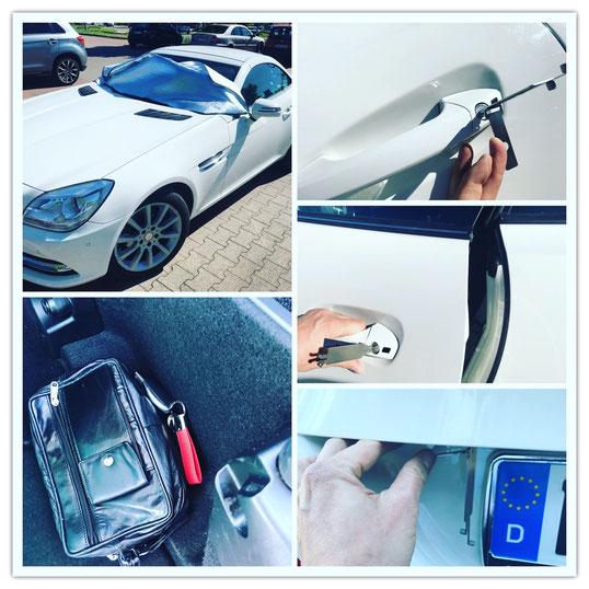 Autoöffnung Mercedes SLK 2015er Modell - Schlüsselnotdienst Hamburg, die Jungs von AOS helfen Ihnen weiter