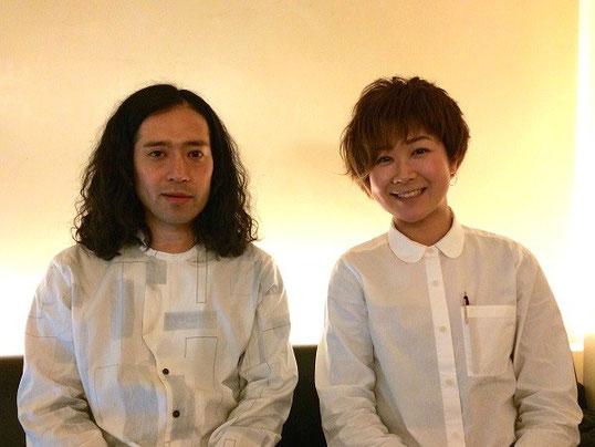 左は又吉直樹さん、右が佐藤文香さん