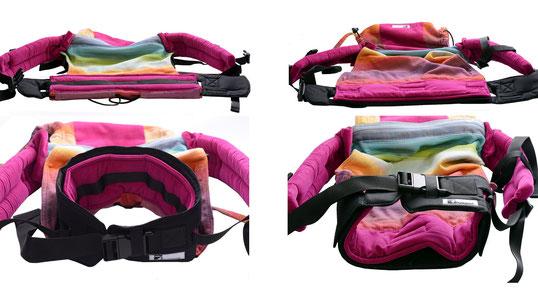 Huckepack Hüftgurt passend zu jedem Onbuhimo, Umbau zur Full Buckle Babytrage, Hybridtrage