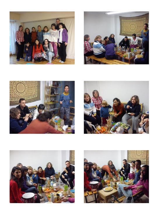 Mosaico de fotos de la formación Rebirthing 2013-14