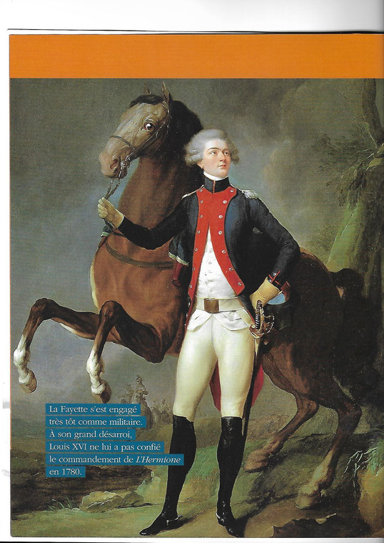 """Document 2_ Le marquis de La Fayette s'engage à l' âge de 19 ans en faveur de la cause de l'indépendance américaine, Revue """"Chasse-marée"""", Hors-série N. 1, avril 2015"""
