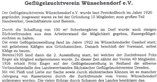 Bild: Teichler Wünschendorf Erzgebirge Geflügelverein