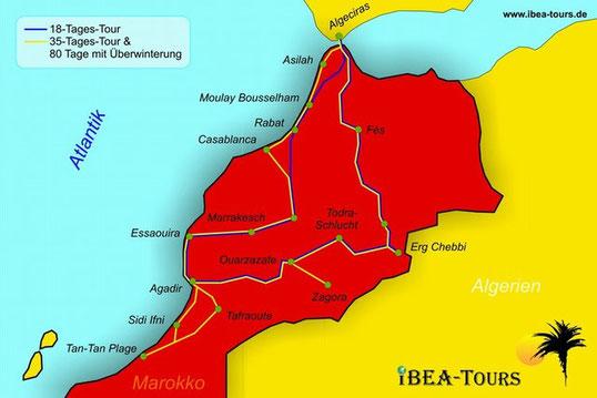 Wir Reisen mit IBEA Tours die 18 Tages Tour