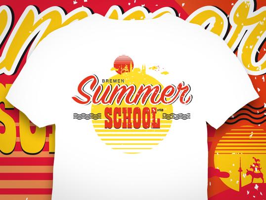 Vintage Style Logo Shirts für die international summer school der Hochschule Bremen
