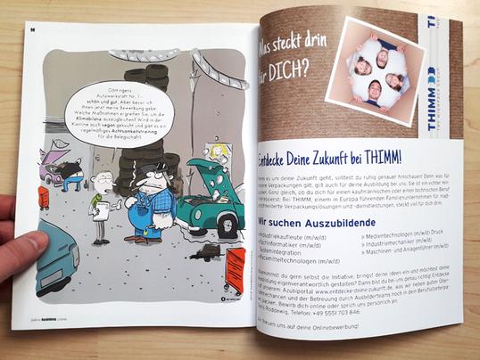Cartoon für das Faktor Azubi Magazin, Göttingen