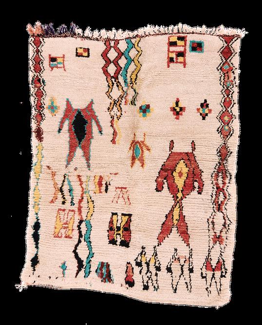 Teppich. Zürich. Vintage Azilal high pile Rug, berber tribal piece from Morocco. Handgeknüpfter Teppich aus Marokko.
